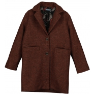 Maroon oversized coat