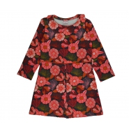Collar dress flower