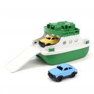 Ferry boat met auto's groen