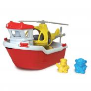 Rescue boat met helikopter