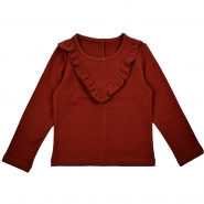 Ruffle blouse brandy